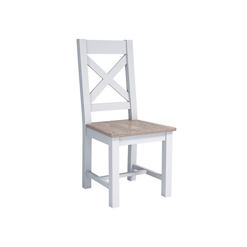 Pavilion Grey Dining Chair Cross Back