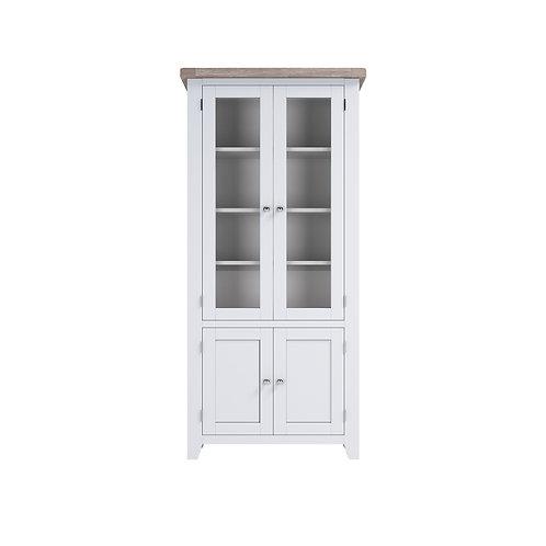Pavilion Grey Glazed Display Cabinet