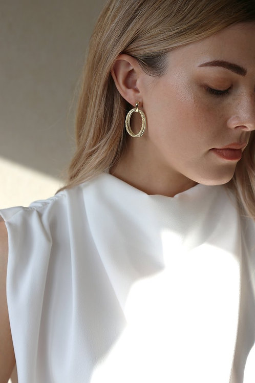 Echo Earring Gold