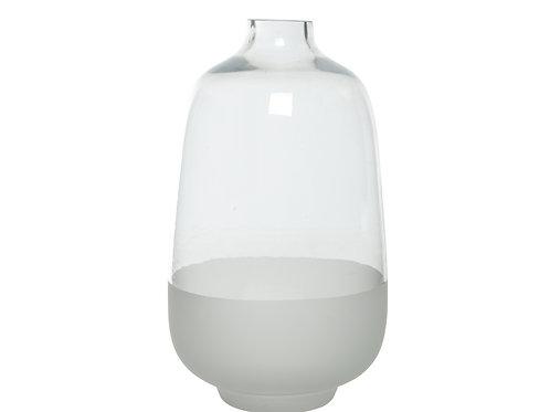 Glass Sandblast Vase