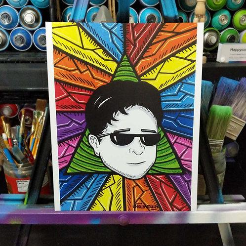 Rainbow Kappa Poster