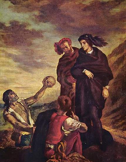 Delacroix, Hamlet & Horacio Mezarda, 1839, Louvre Müzesi.