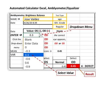 Amblyometer/Equalizer.  Excel Calculator
