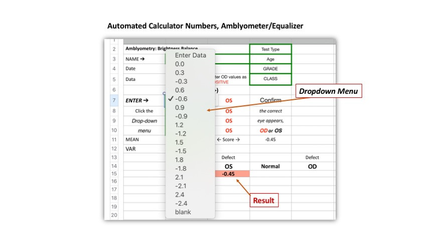 Amblyometer/Equalizer Calculator