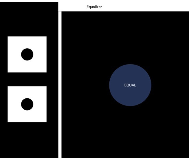 Select the darker square until equally bright