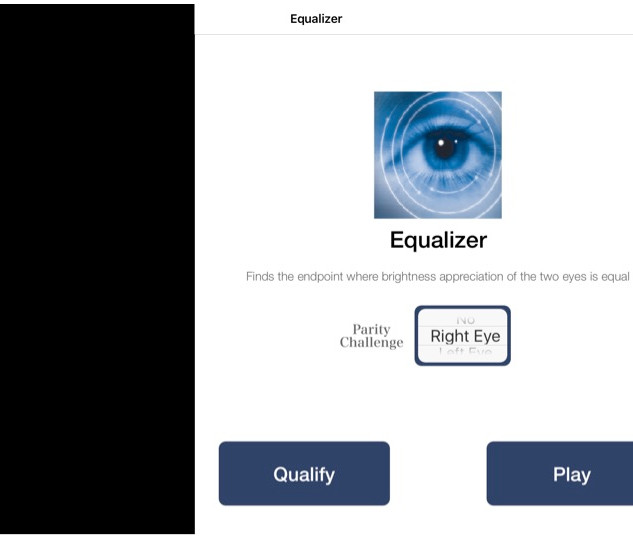 Select RIGHT EYE then PLAY