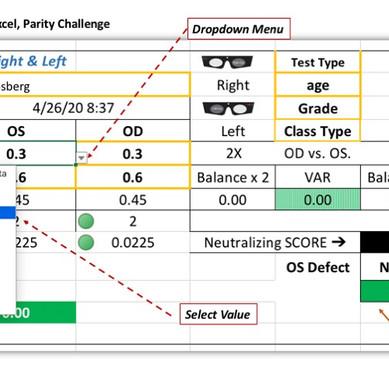 Parity Challenge Excel Calculator