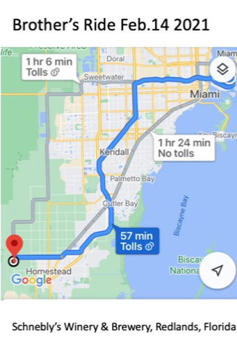 We took the 1 hr 24 min route