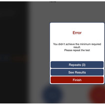 Error message if better than 20/60 is not achieved