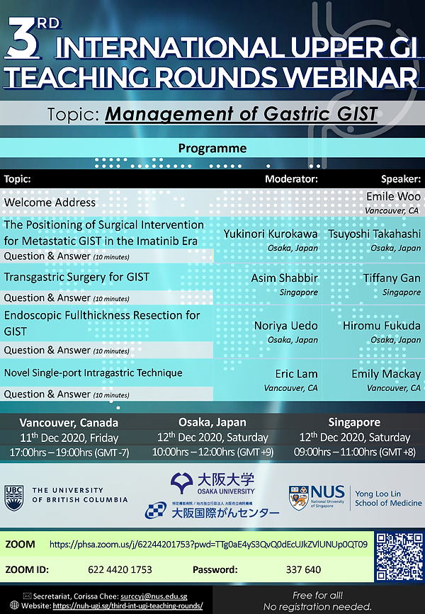 Poster - Int. Upper GI Teaching Rounds [