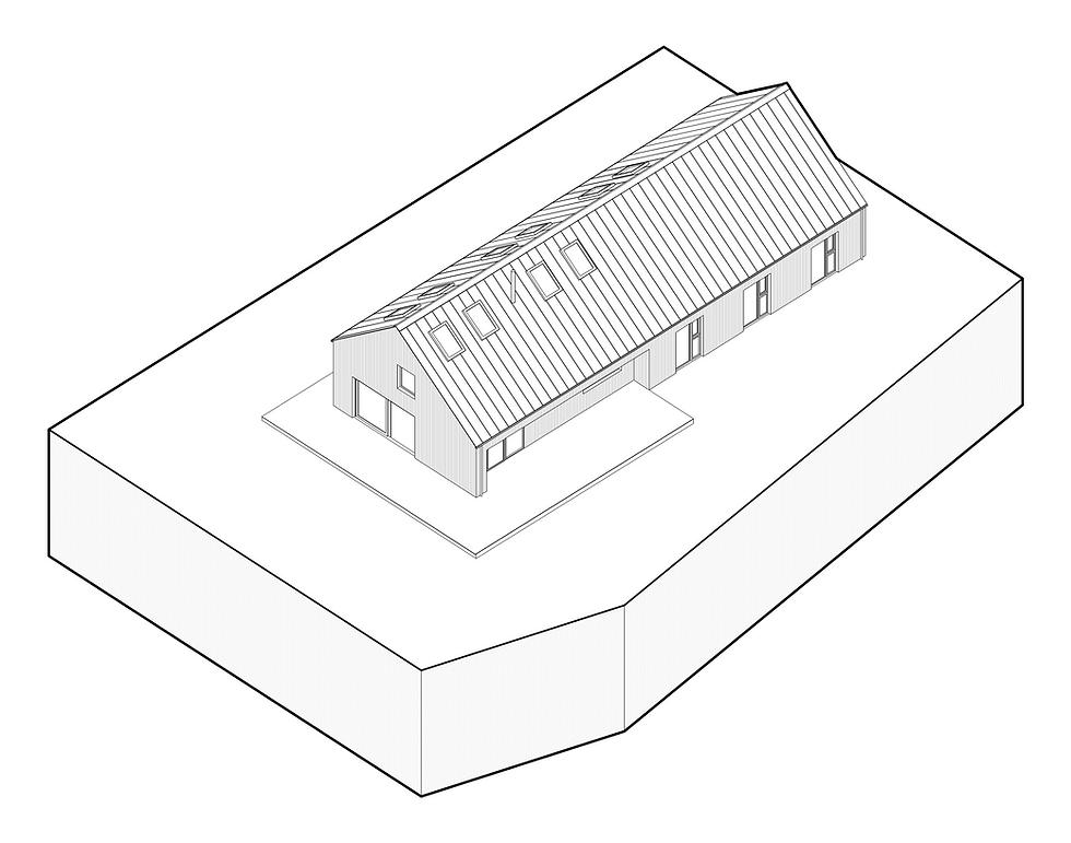 KAST Architects - Fairfield Barn - Isometric Diagram
