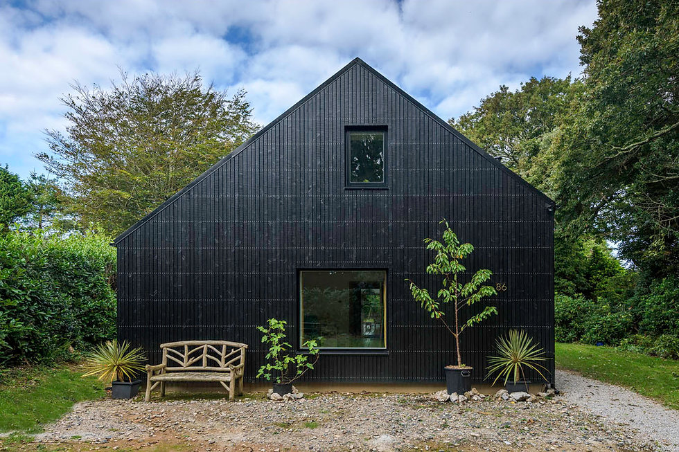 KAST Architects - Fairfield Barn - Black Stained Timber Gable End