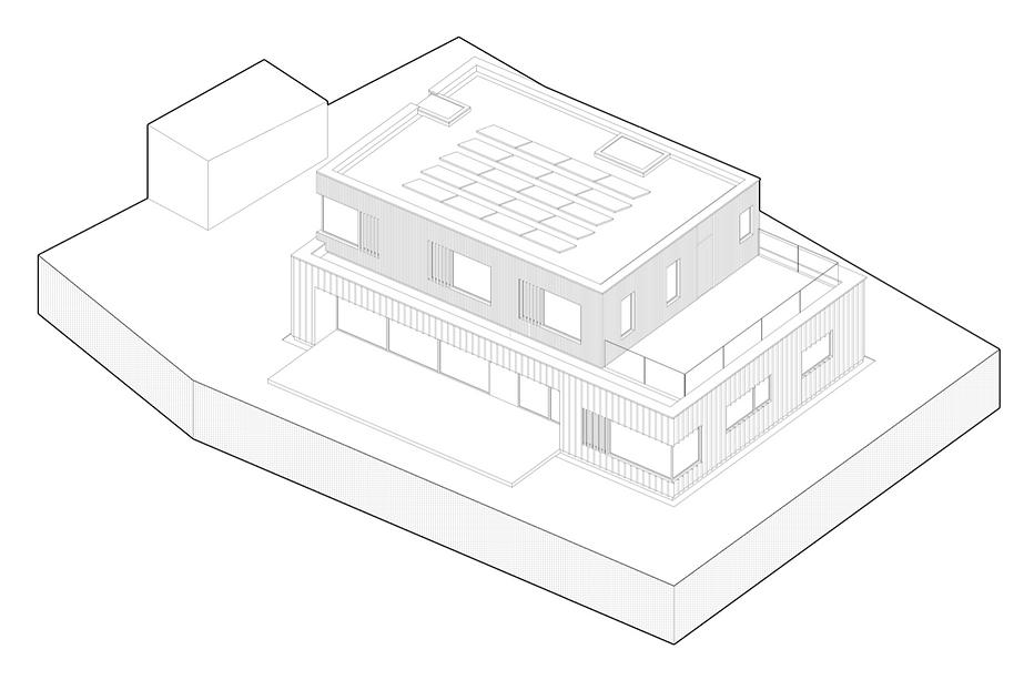 KAST Architects - Prennek House - Isometric Diagram