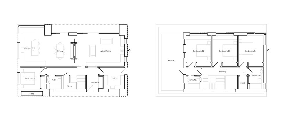 KAST Architects - Prennek House - Plan Diagrams