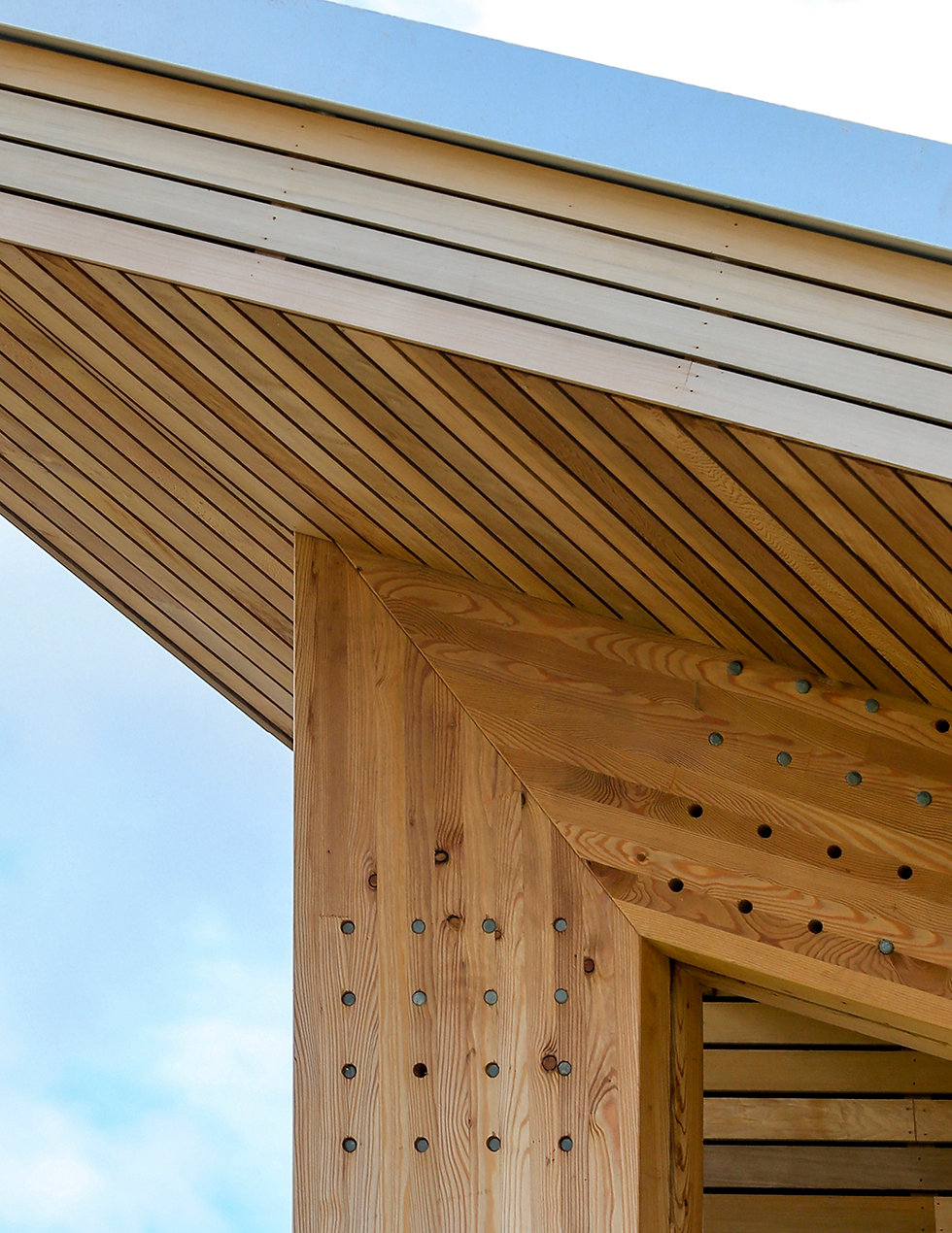 KAST Architects - Fossebrook Primary School - Timber and Glulam Detail