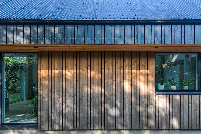 KAST Architects - Fairfield Barn - Material Transition Detail