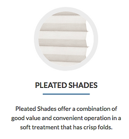 Pleated Shades. Cape Coral blinds and shutters.