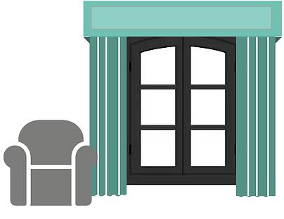 Custom curtains, drapes, cornice boards, valences & panels