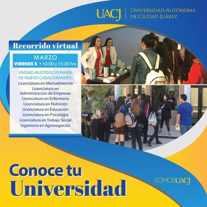 """Invita UACJ al evento virtual """"conoce tu universidad"""""""