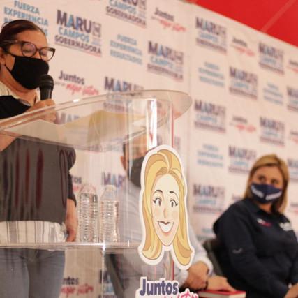 Maru va a ganar; adelante y con todos juntos, el futuro de los niños de Juárez va a ser mejor