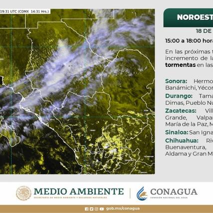 Prevé Protección Civil vientos fuertes por aproximación de nuevo sistema frontal