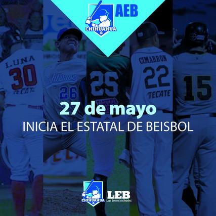 El 27 de mayo inicia el campeonato estatal de beisbol