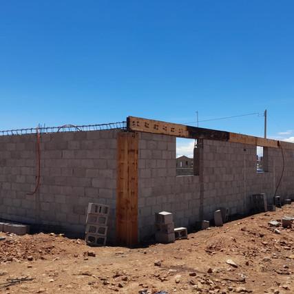 CONTINÚA LA CONSTRUCCION DE VELATORIO EN EL BARRIO SAN ANTONIO EN CASAS GRANDES