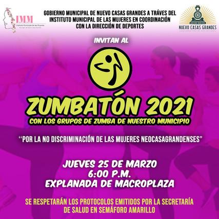 """INVITA LA PRESIDENCIA MUNICIPAL DE NUEVO CASAS GRANDES A PARTICIPAR EN EL """"ZUMBATÓN 2021"""""""