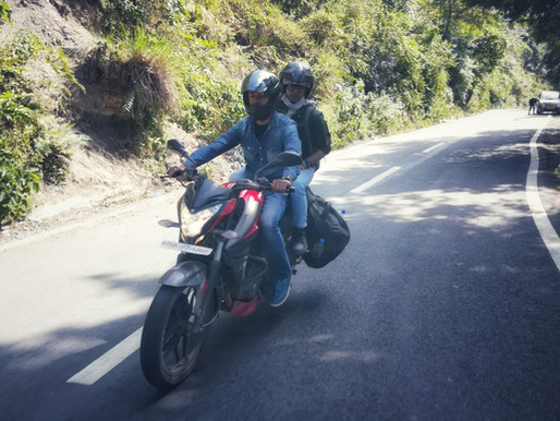 A weekend trip to the hills on bike