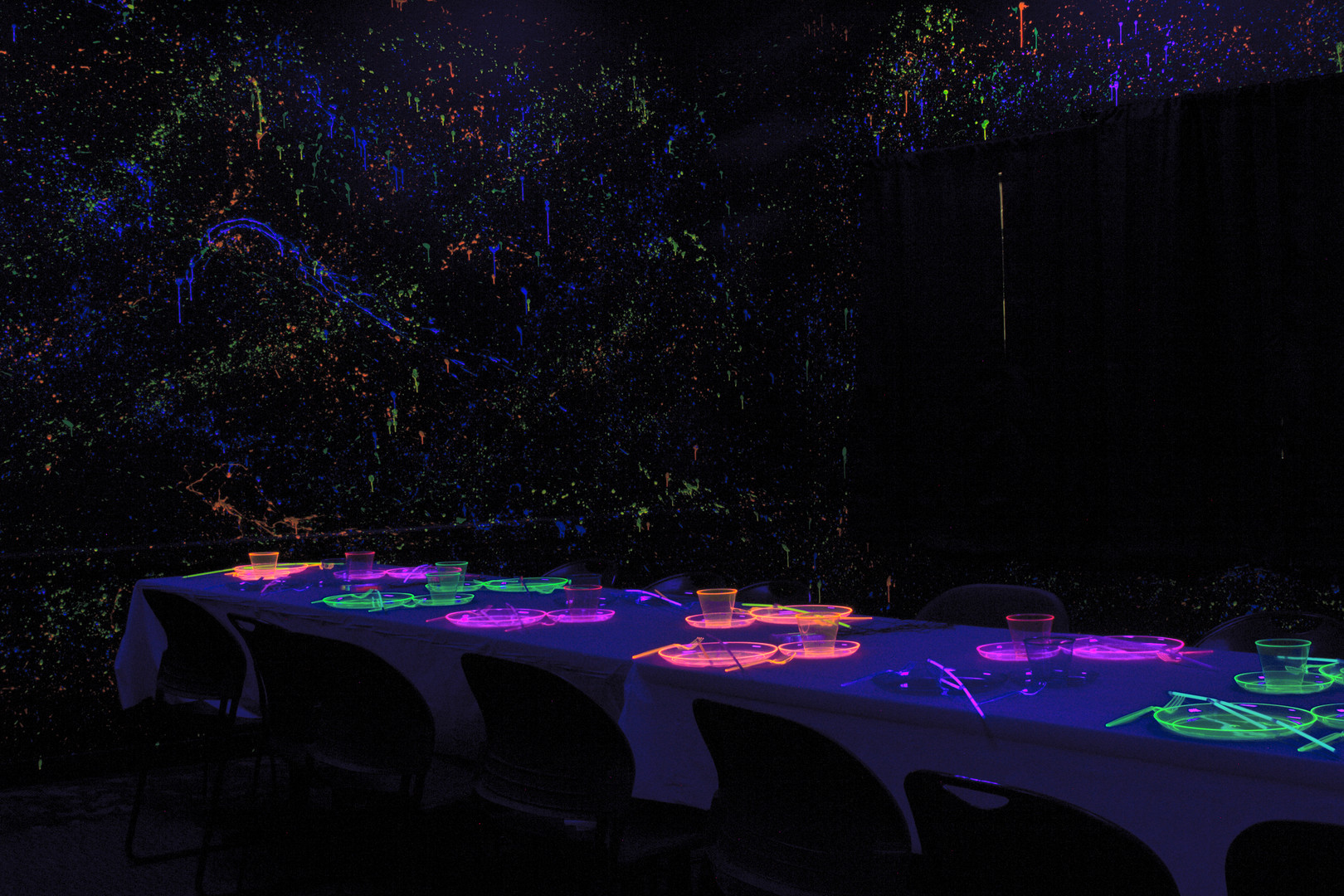 Glow Birthday Party Room