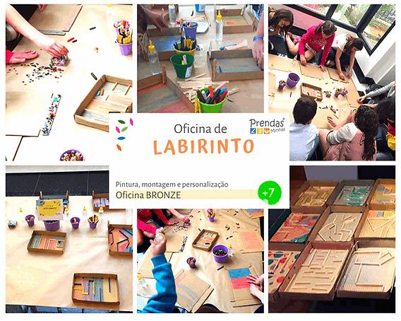 oficina de labirinto para crianças