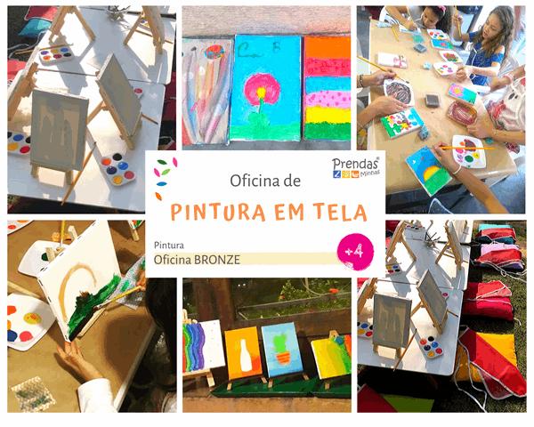 oficina infantil de pintura para crianças
