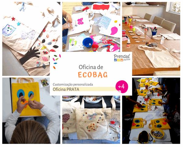 oficina de ECOBAG para crianças