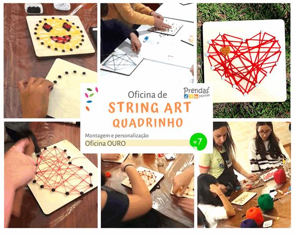 oficina de STRING ART - ARTES para crianças