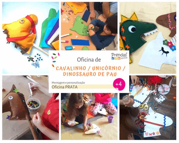 oficina infantil de cavalinho de pau para crianças