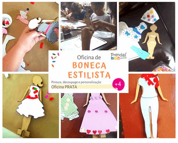 oficina de boneca estifista para crianças