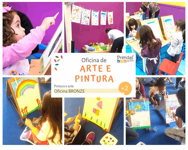 oficina de arte e pintura em papel para crianças