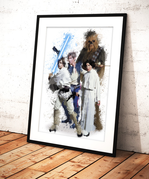 Star Wars Family - limited edition print 297 x 420 mm, numbered and ...