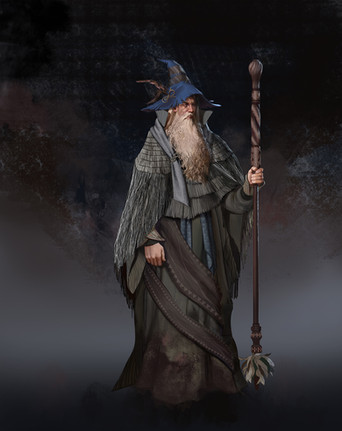 Wizard full body character design