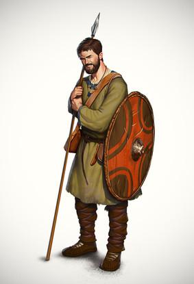 Slavic Goth warrior