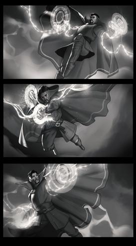 Dr.Strange sketches, B&W