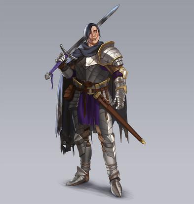 Dark fantasy knight design