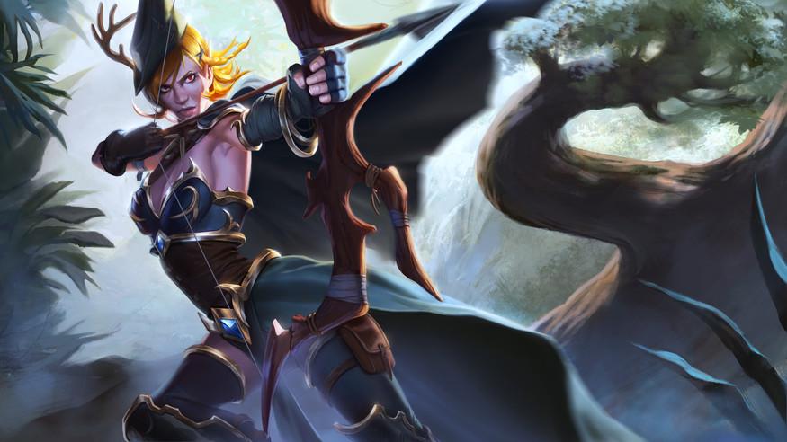 Elf Archer design and illustration