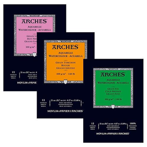 Arches Aquarelle Watercolour Pads 300 GSM