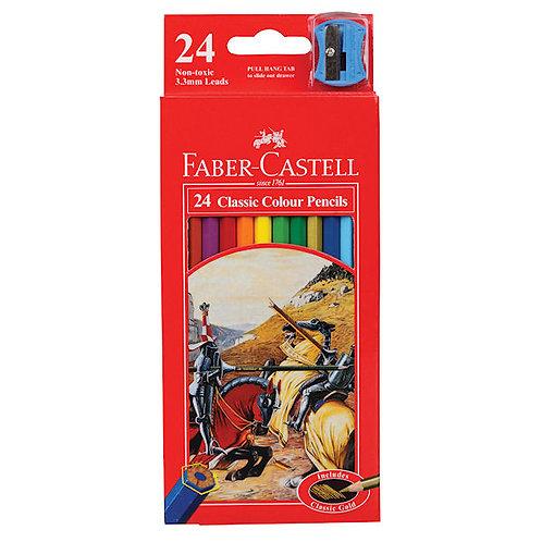 Faber-Castell Classic Colour Pencils - Set of 24