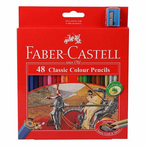 Faber-Castell Classic Colour Pencils - Set of 48
