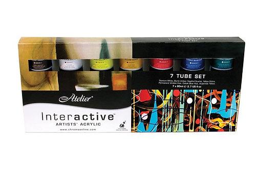 Interactive Artists' Acrylic - 7 Tube Set