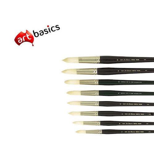 105R Art Basics Hog Bristle Round