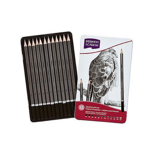 Derwent Academy Sketching Pencils - Set of 12