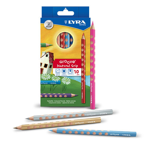 Lyra Groove Coloured Pencils - Pack of 10
